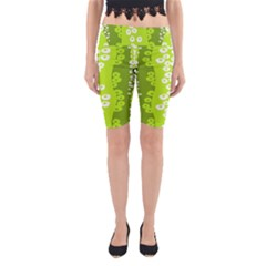 Sunflower Green Yoga Cropped Leggings by Mariart