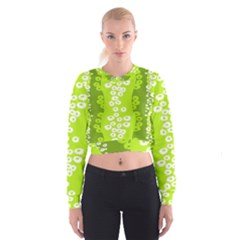 Sunflower Green Cropped Sweatshirt by Mariart