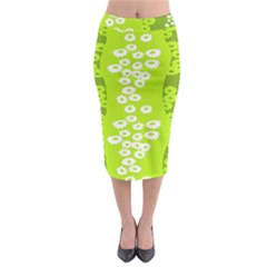 Sunflower Green Midi Pencil Skirt by Mariart