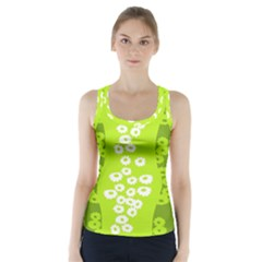 Sunflower Green Racer Back Sports Top by Mariart