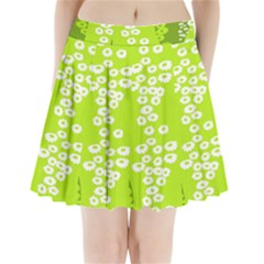 Sunflower Green Pleated Mini Skirt by Mariart