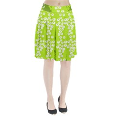 Sunflower Green Pleated Skirt by Mariart