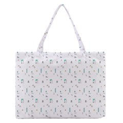 White Triangle Wave Waves Chevron Polka Circle Medium Zipper Tote Bag by Mariart