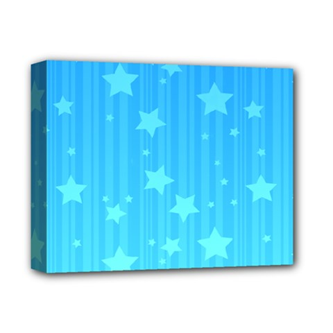 Star Blue Sky Space Line Vertical Light Deluxe Canvas 14  X 11  by Mariart