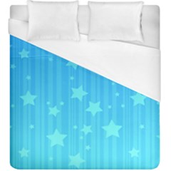 Star Blue Sky Space Line Vertical Light Duvet Cover (king Size) by Mariart