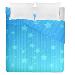 Star Blue Sky Space Line Vertical Light Duvet Cover Double Side (queen Size) by Mariart