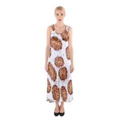 Formalin Paraffin Human Stomach Stained Bacteria Brown Sleeveless Maxi Dress by Mariart