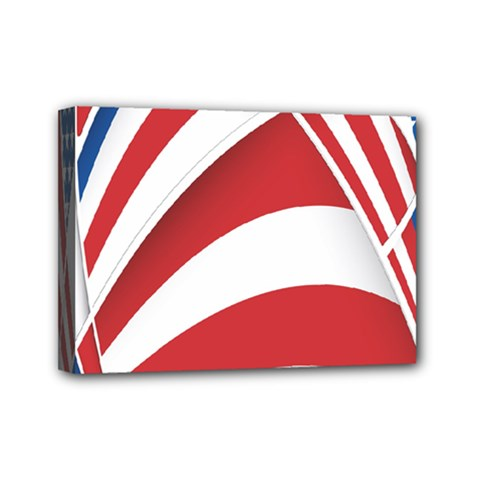 American Flag Star Blue Line Red White Mini Canvas 7  X 5  by Mariart