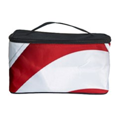American Flag Star Blue Line Red White Cosmetic Storage Case by Mariart