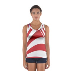 American Flag Star Blue Line Red White Women s Sport Tank Top  by Mariart