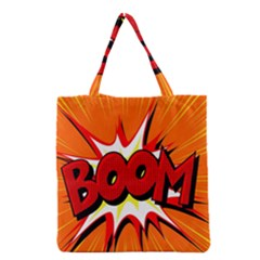 Boom Sale Orange Grocery Tote Bag by Mariart