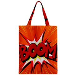Boom Sale Orange Zipper Classic Tote Bag by Mariart