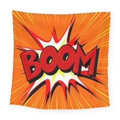 Boom Sale Orange Square Tapestry (large) by Mariart