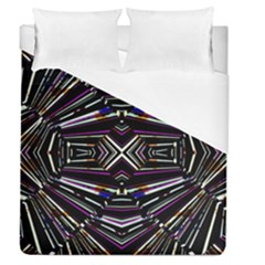 Dark Ethnic Sharp Bold Pattern Duvet Cover (queen Size) by dflcprints
