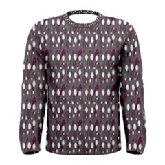 Circles Dots Background Texture Men s Long Sleeve Tee by Mariart