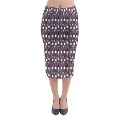 Circles Dots Background Texture Midi Pencil Skirt by Mariart