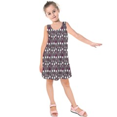 Circles Dots Background Texture Kids  Sleeveless Dress by Mariart