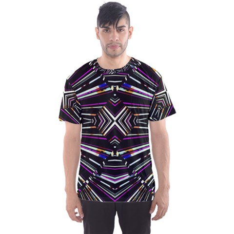 Dark Ethnic Sharp Bold Pattern Men s Sport Mesh Tee by dflcprintsclothing