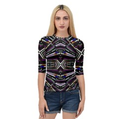 Dark Ethnic Sharp Bold Pattern Quarter Sleeve Tee by dflcprintsclothing