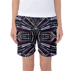 Dark Ethnic Sharp Bold Pattern Women s Basketball Shorts by dflcprintsclothing