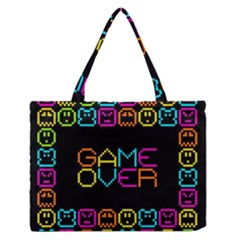 Game Face Mask Sign Medium Zipper Tote Bag by Mariart
