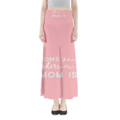Home Love Mom Sexy Pink Maxi Skirts