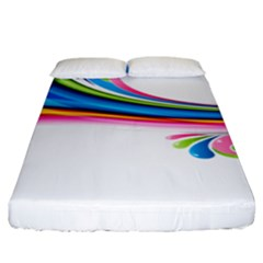 Colored Lines Rainbow Fitted Sheet (king Size) by Mariart