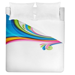 Colored Lines Rainbow Duvet Cover (queen Size) by Mariart