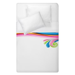 Colored Lines Rainbow Duvet Cover (single Size) by Mariart