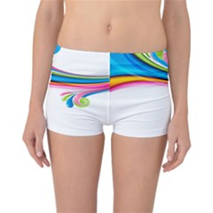 Colored Lines Rainbow Reversible Bikini Bottoms