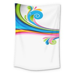 Colored Lines Rainbow Large Tapestry by Mariart