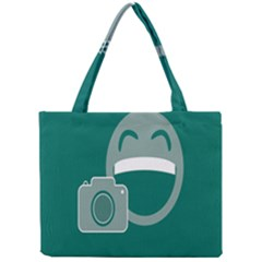Laughs Funny Photo Contest Smile Face Mask Mini Tote Bag by Mariart