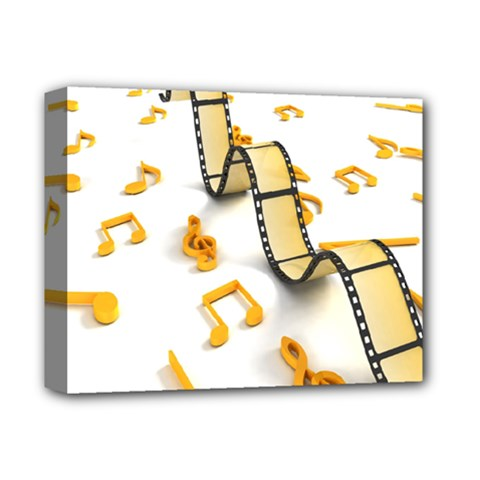 Isolated Three Dimensional Negative Roll Musical Notes Movie Deluxe Canvas 14  X 11  by Mariart