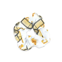 Isolated Three Dimensional Negative Roll Musical Notes Movie Velvet Scrunchie by Mariart