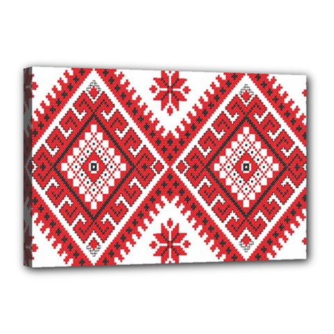 Fabric Aztec Canvas 18  X 12  by Mariart
