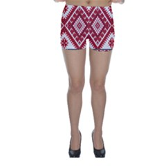 Fabric Aztec Skinny Shorts by Mariart
