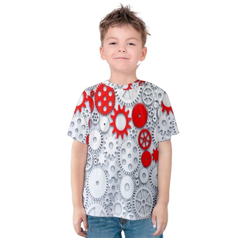 Iron Chain White Red Kids  Cotton Tee by Mariart