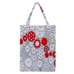 Iron Chain White Red Classic Tote Bag by Mariart