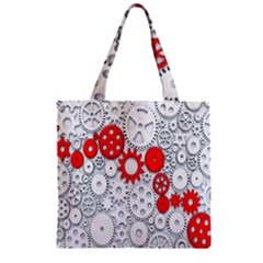 Iron Chain White Red Zipper Grocery Tote Bag by Mariart