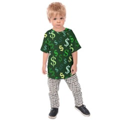 Money Us Dollar Green Kids  Raglan Tee