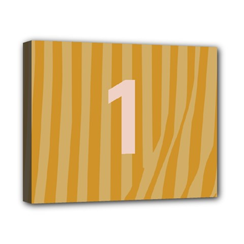 Number 1 Line Vertical Yellow Pink Orange Wave Chevron Canvas 10  X 8  by Mariart