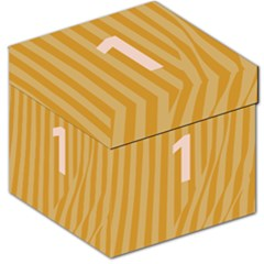 Number 1 Line Vertical Yellow Pink Orange Wave Chevron Storage Stool 12   by Mariart