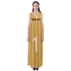 Number 1 Line Vertical Yellow Pink Orange Wave Chevron Empire Waist Maxi Dress by Mariart
