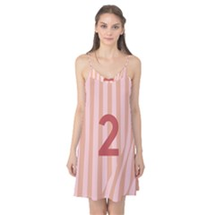Number 2 Line Vertical Red Pink Wave Chevron Camis Nightgown