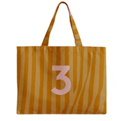 Number 3 Line Vertical Yellow Pink Orange Wave Chevron Zipper Mini Tote Bag by Mariart