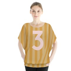 Number 3 Line Vertical Yellow Pink Orange Wave Chevron Blouse by Mariart