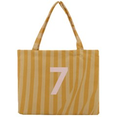 Number 7 Line Vertical Yellow Pink Orange Wave Chevron Mini Tote Bag by Mariart