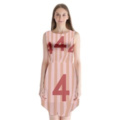 Number 4 Line Vertical Red Pink Wave Chevron Sleeveless Chiffon Dress   by Mariart