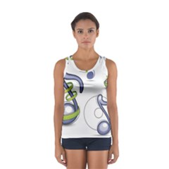 Notes Musical Elements Women s Sport Tank Top  by Mariart