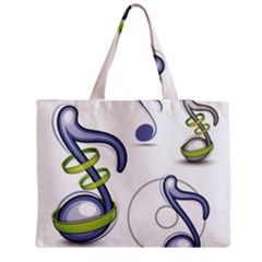Notes Musical Elements Medium Zipper Tote Bag by Mariart